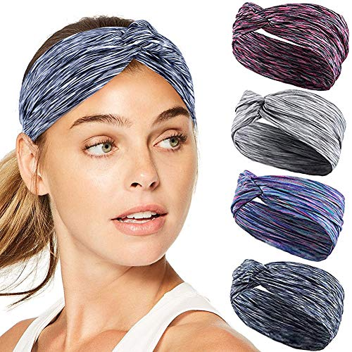 Joinfun sport Fasce per le donne Avvolgere la testa Elasticità idratante Hairband Accessori per capelli ritorti per