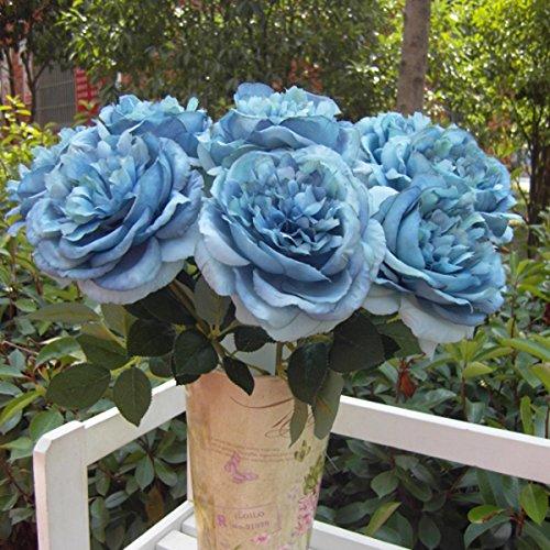 Kicode Rose Blumenstrauß Künstliche Hydrangea Blumenkopf - 4