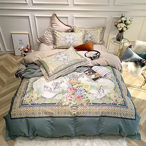 yaonuli 4-teiliger Bettbezug aus langstapeliger Baumwolle 1.8m2.0 - Böhmisches 1,8m Bett