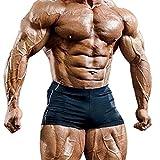 Musclealive Herren Fitnessstudio Enge 4 Inseam Bodybuilding Kurze Hose Polyester und Lycra
