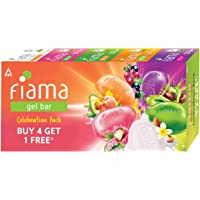 Fiama Gel Bar Celebration Pack with 5 unique Gel Bars , 125g (Buy 4 get 1 Free)