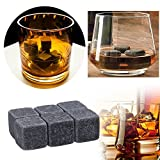AOTUOTECH Chilling Whisky Rocks Whiskey Stone Ice Cubes Granit Dry Ice On The Rocks Neuheit Geschenk Strumpffüller, dunkelgrau, 2x2x2cm
