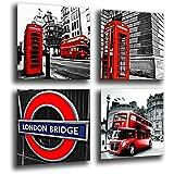 Cuadro Moderno fotografico base madera, 65 x 65 cm, London, Ciudad de Londres ref. 26214