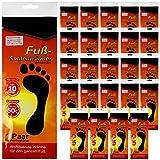 24er Set Fuß Sohlenwärmer bis zu 10 Stunden Wärmedauer bis zu 50C° - Fußwärmer Wärmesohle Schuhheizung Fußheizung - 24 Paar ( Links & rechts ) - Einheitsgröße