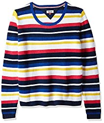 Tommy Hilfiger Womens Cotton Sports Knitwear (A7AJS114_Bright White / Multi_L)
