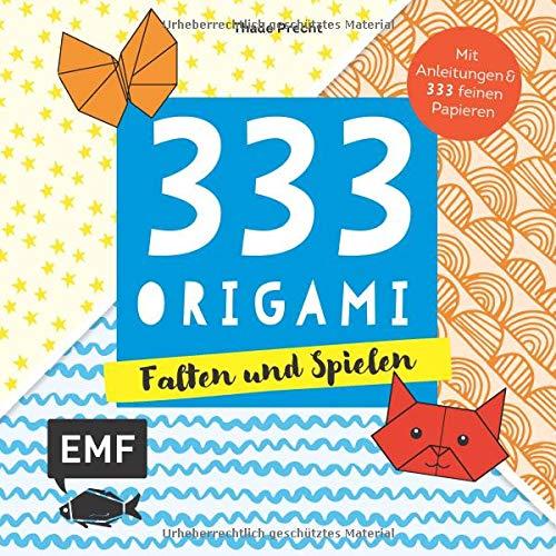 333 Origami - Falten und Spielen: Mit Anleitungen und 333 bunten Origamipapieren