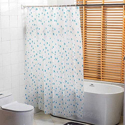 Rideaux de douche Rideau de douche PEVA imperméable à l'eau plus épaisse salle de bain goutte d'eau modèle doux protection de l'environnement en métal Durable ( taille : 180x180CM )