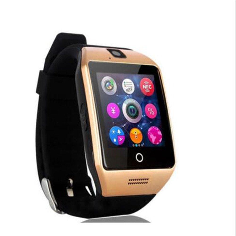 SmartWatch, 1.54 pulgadas Bluetooth SmartWatch Q18 Reloj de pulsera compatible con cámara NFC TF tarjeta reloj… 1