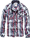 Brandit Central City Check Shirt Vintage Hemd, Navy-white, 4XL