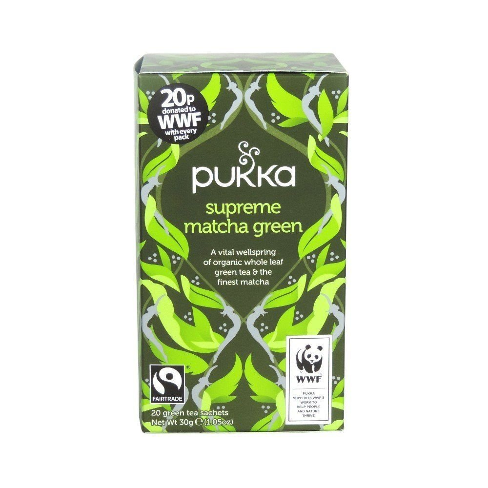 Pukka cleansing range tea (soil association) (green tea) (matcha) (20 bags) (brews in up to 15 min)