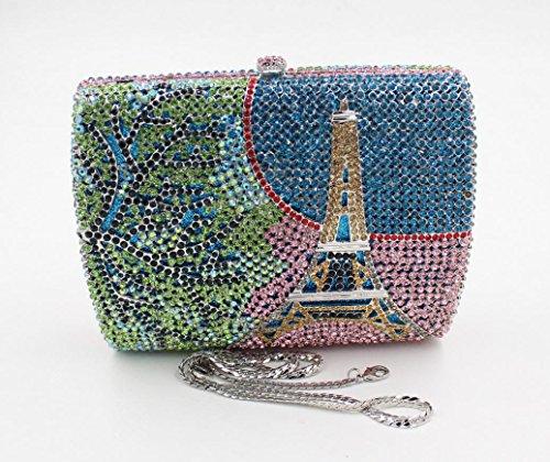 Lady Abendessenbeutel Kristall-Diamant-Diamant-Mappe Brautbeutel Handtasche Bankett-Paket color 2
