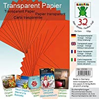 """Transparentpapier Orange 15 x 15 cm: Material für """"Festliche Fenstersterne zur Advents- und Weihnachtszeit Nr. 2"""""""