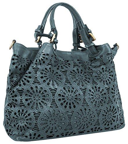 Samantha Look Sac shopping. bleu