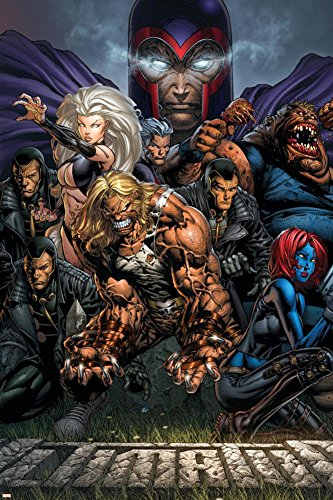 Sabretooth Cover (PALOMA NIEVES Ultimatum No.3 Cover: Magneto, Sabretooth, Madrox, Mystique, Blob, Quicksilver and Lorelei Poster by David Finch 24 x 36in)