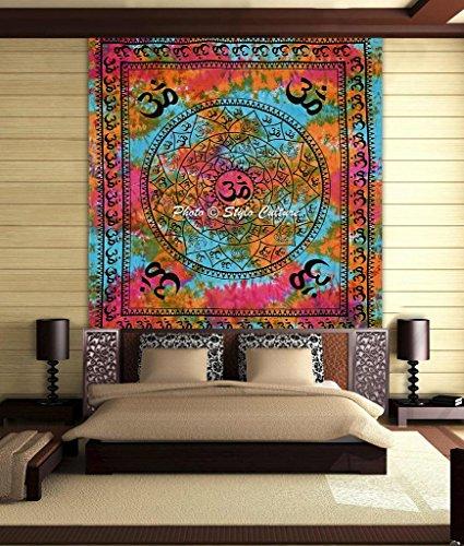 stylo-cultura-om-mandala-tappeto-tessuto-cotone-multi-color-queen-stampato-tie-dye-parete-floreale-a