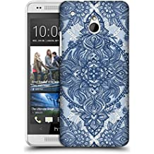 Official Micklyn Le Feuvre Denim Blue Lace Pencil Doodle Mandala 3 Hard Back Case for HTC One mini