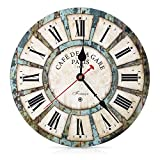 Soledi Quartz Wall Clock Style Tuscan Vintage French Paris Clock Wooden 30 cm