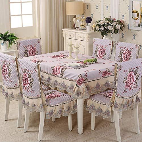 Rechteck-matte Stuhl (XHCP Europäische Restaurant Set tischdecke esszimmer zu Hause tischwäsche ländlichen tischdecken mit Stuhl Matte (h: 50 * innen: 45 * außen: 52 cm) und zurück (h: 60-70 * Oben: 55 * unten: 45 cm))