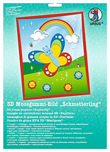 Ursus 8780005 - Moosgummi Bild 3D Schmetterling