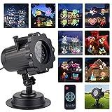 LED de proyección pantalla LED Luz Lámpara de 12Efecto de luz navidad iluminación interior y exterior IP44Luz para jardín para celebraciones, carnaval Halloween vacaciones decoración