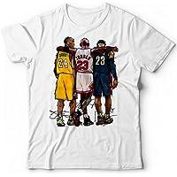 Generico T-Shirt Kobe Bryant Basket NBA Michael Jordan Lebron James Campioni Pallacanestro Leggenda 24