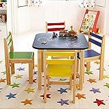Taylor & Brown pour Enfants Tableau Noir sur Le Dessus en Bois Table et 4chaises...