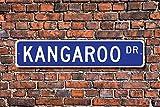Aersing Stree Deko Schilder Känguru Geschenk Schild Decor Känguru Lover Beuteltier Australien Native Metall Wandschild Funny