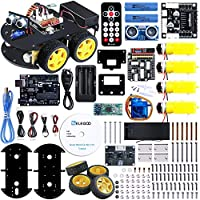 ELEGOO Smart Robot Car Kit V3.0 Compatible with Arduino IDE with UNO R3 Board, Line Tracking Module, Ultrasonic Sensor, IR Remote Module Intelligent and Educational Toy Car Robotic Kit for Kids Teens