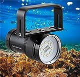 Samoleus 7000LM XM-L2 LED Wasserdicht Taschenlampe, Unterwasser Tauchen Taschenlampe mit 120 Grad Beam Winkel Unterstützt durch 4 x 18650 Batterien (Nicht Mitgeliefert) (7000 Lumen)