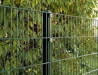 Doppelstab-Mattenzaun Komplett-Set / Anthrazit / 183cm hoch / 15m lang / Gartenzaun Metallzaun Zaun Zaunanlage von Mattenzaun-Komplett-Sets - Du und dein Garten