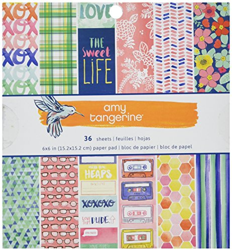 American Crafts American Crafts Papier Pad 6 x 6 3-amy Tan Better Together, anderen, mehrfarbig