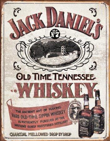 Daniels Blechschild Jack (Blechschild 32 x 41 cm - Jack Daniels - Sippin Whiskey)