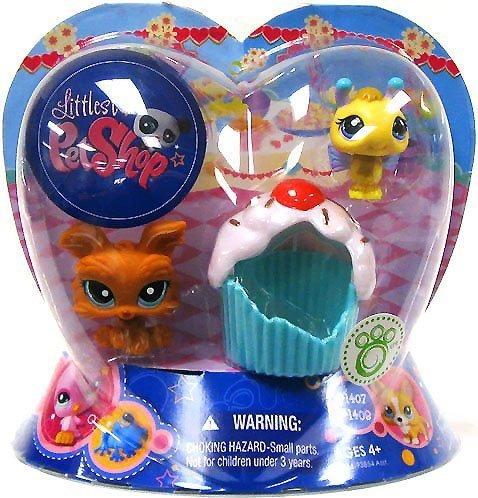 Hasbro Littlest Pet Shop Lot de 2 Bougies de Saint-Valentin pour Chien avec Cupcake