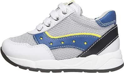 Nero Giardini E023820M Sneakers Kids da Bambino in Pelle E Tela