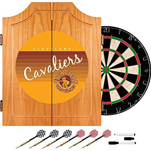 Trademark Global NBA Cleveland Cavaliers Holz-Dartschrank, Einheitsgröße, Braun