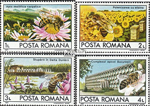 Prophila Collection Rumänien 4407-4410 (kompl.Ausg.) 1987 Bienenzucht in Rumänien (Briefmarken für Sammler) Wirbellose Tiere Sonstige