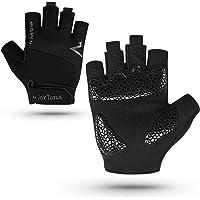 Cycling Gloves Fingerless, Bike Gloves Unisex Anti-slip Shock-absorbing Pad Breathable Half Finger Bicycle Biking Sports…