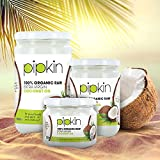 Pipkin 100% Organic Coconut Oil Raw Extra-Virgin and Pure. Multi-Purpose Coconut Oil Cold Pressed, Non-GM, for Hair/Skin/Body Moisturiser, Edible, for Cooking, Suitable for Vegetarians and Vegans