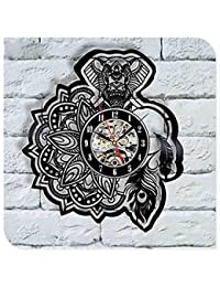 Txyang Tattoo Salon Creative CD Disco de Vinilo Reloj de Pared 3D Arte clásico Hecho a