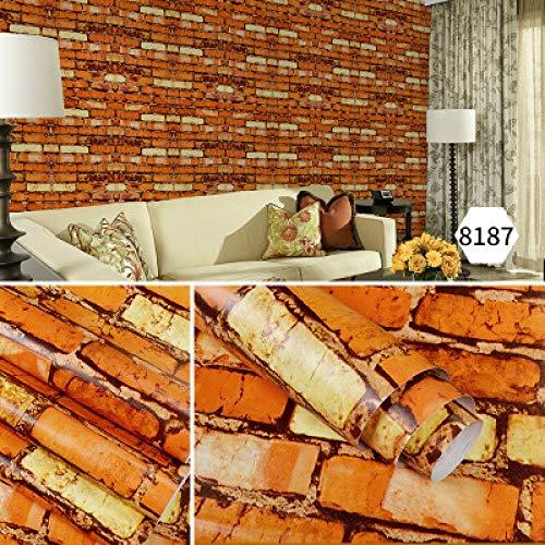 Braune Flyer (Selbstklebende tapete tapete schlafzimmer wohnzimmer ziegel tapete einfache retro 0,45 mt * 10 mt 8187)