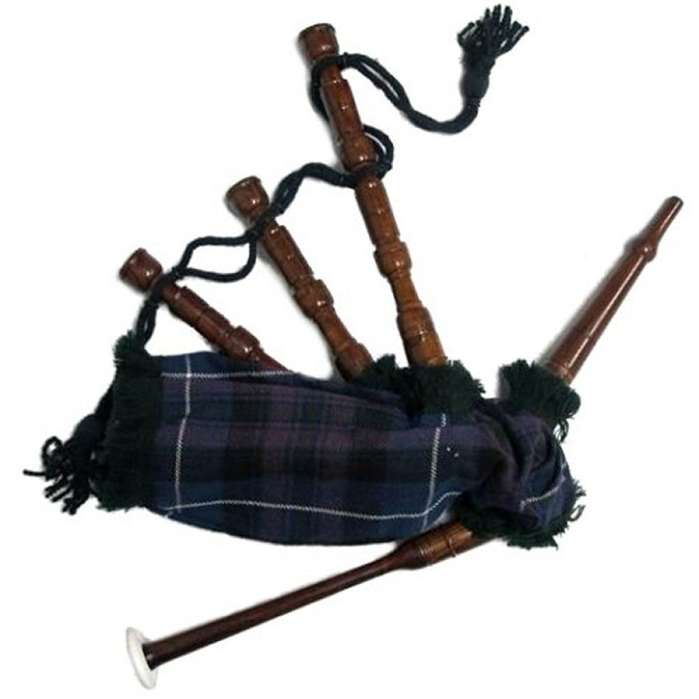 Bagpipe, Rosewood Chalice Style with Red Tartan Cover, Miniature ...