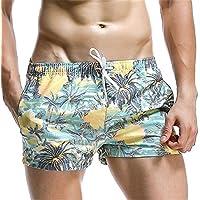 yalanshop Bóxer Cómodo Calzoncillos para Hombre Ropa Interior De Fibra De Bambú Ocean Beach Pants Informal Y Relajada Home Pantalones Pantalones para Dormir Cómodo, Transpirable 1-,E,M