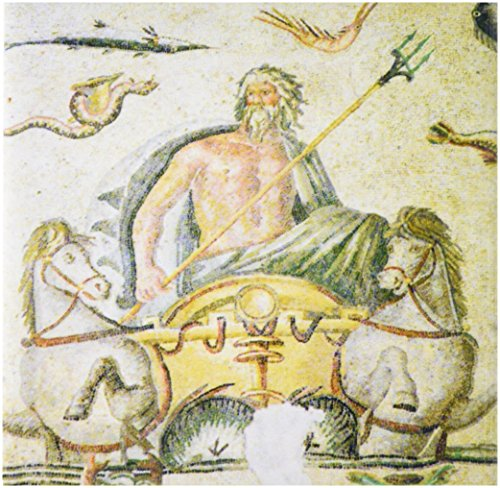 3dRose ct_73654_1 Poseidon Mosaik, Archäologisches Museum, Gaziantep, Türkei-As37 Aka0769-Ali Kabas-Keramikfliese, 10,2 cm -