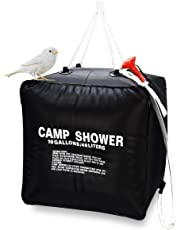 Delavala Portable Outdoor Hiking Solar Camping Water Bathing Shower Bag 40L