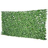 Outsunny Künstliche Hecke Wanddekoration Sichtschutzhecke Pflanzen Hecke Gras Hellgrün