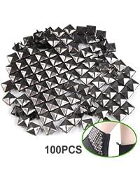 TRIXES 100x Pyramid Punk Rock Leder Tasche Schuh Nieten für Mode Handwerk und Design