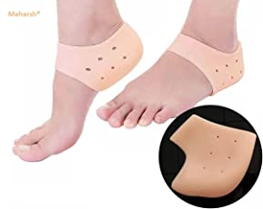 Maharsh Silicon Moisturising Heel Swelling Pain Relief Foot Support to Eliminate Cracks (Beige, B079ZTHP46, Free Size)