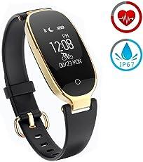 Smart Armband ZKCREATION Bluetooth Fitness-Tracker K3 Intelligente Uhr Herzfrequenz-Überwachung Schlafüberwachung Informationen erhalten IP67 wasserdicht Kompatibel mit Android und IOS(Schwarz)