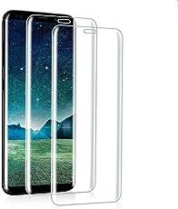 [2 Stück] Panzerglas schutzfolie für Samsung Galaxy S8,gehärtetes Glas Displayschutzfolie, Easy Install Kit, 9H gehärtetes Glas, Antikratz, Glas 0.33mm,Anti-Bläschen,Transparent