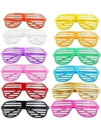 Tinksky 12 paires de lunettes de soleil en plastique obturateur nuances verres fête les accessoires